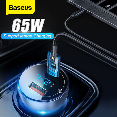 AU21.99 • Buy Baseus 65W/6A Car Charger USB Type C QC4.0 PD Fast Charging For IPhone Samsung