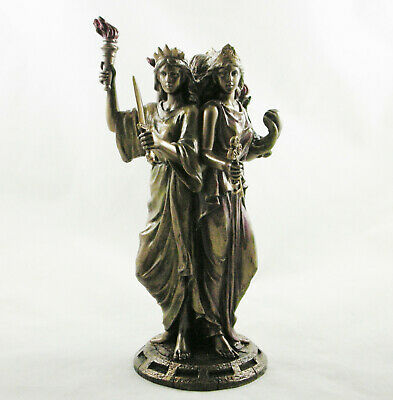 Hekate Triple Greek Goddess Of Magic Figurine Hecate Wiccan Statue Ornament NEW • 39.95£