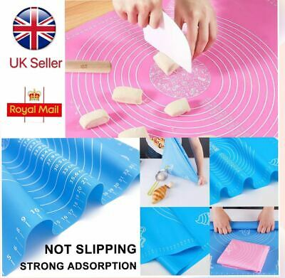 70*50  Large Silicone Baking Mat Sheet For Rolling Dough Macaroo Pizza Non-Stick • 10.99£