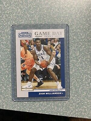 $2.10 • Buy 2019 Panini Contenders Draft Picks GAME DAY TICKET Zion Williamson RC Rookie
