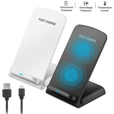 AU16.98 • Buy Qi Wireless Charger Fast Charging Stand Dock For Samsung S8 S9 S10 Plus Note 8 9