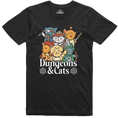 £9.99 • Buy RPG Funny Mens T Shirt Dungeons And Cats Role Playing Regular Fit Tee