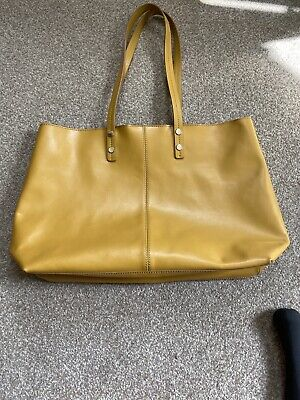 Hobb Leather Tote Bag With Internal Detachable Leather Pouch. Mustard,New No Bag • 6.38£