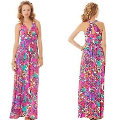 $75 • Buy Lilly Pulitzer Sea And Be Seen Parrish Maxi Dress Sz Large Jersey Cotton