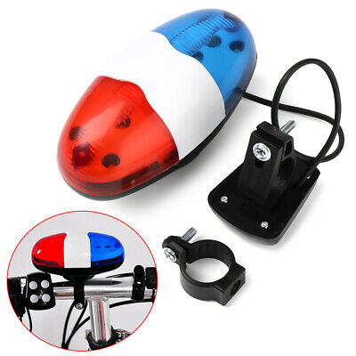 Cycling Bike Accessories Electric Horn 4 Sounds Bicycle Police Siren Lights UK • 5.22£