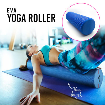 AU29.98 • Buy EVA 90x15cm PHYSIO FOAM AB ROLLER YOGA PILATES EXERCISE BACK HOME GYM MASSAGE