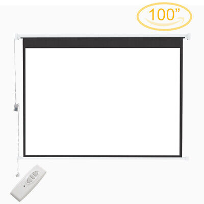 £89.95 • Buy 100 Inch Electric Motorised Projector Screen 4:3 16:9 White Remote HD Projection