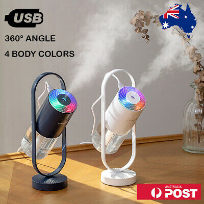 AU32.99 • Buy USB Humidifier Oil Air Humidifier Essential Purifier Diffuser With LED Projector