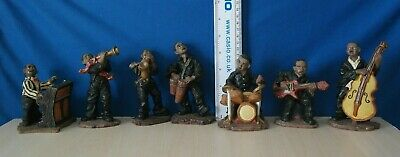 Set Of  7 Vintage Figures Resin Jazz Band Musicians • 17£