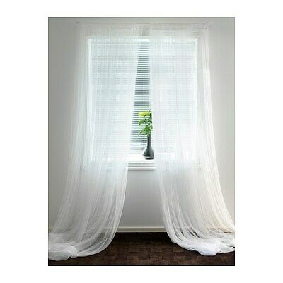 IKEA LILL Brand New Pair Of Long Sheer Floaty White Net Curtains 280 X 250cm • 8.99£