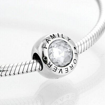 AU17.67 • Buy PANDORA Charms Bracelet Authentic 925 Sterling Silver Forever Family Fine Beads