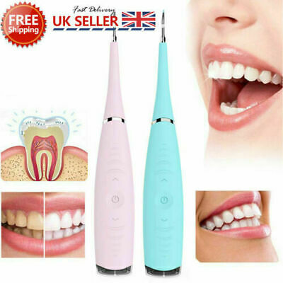 Electric Dental Scaler Tartar Calculus Plaque Remover Teeth Stains Cleaner Tool • 10.37£