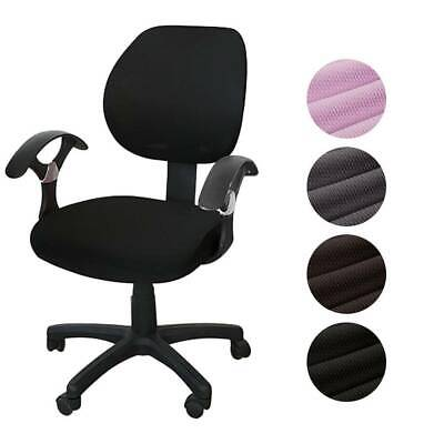 AU20.68 • Buy Office Computer Chair Cover Set Rotating Seat Covers Stretch Slipcover Removable