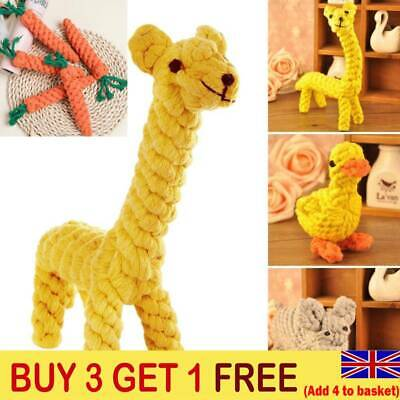 Pet Chew Toys Braided Rope Puppy Dog Teeth Dental Cleaning Toy BUY 3 GET 1 FREE • 5.69£
