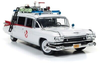 Autoworld Models Awss118 1/18 Ghostbusters Ecto-1 Diecast Model Car • 134.99£