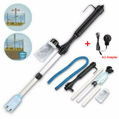 AU20.99 • Buy Aquarium Fish Tank Vacuum Gravel Water Filter Cleaner Battery Syphon Operated AU