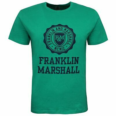 Franklin And Marshall Logo Top Short Sleeve Green Boys T-Shirt FMS0060 401 • 6.99£