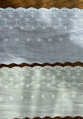 Cotton Embroidered Lace Fabric Trim 1 Yard Width 13 Cm • 3.99£