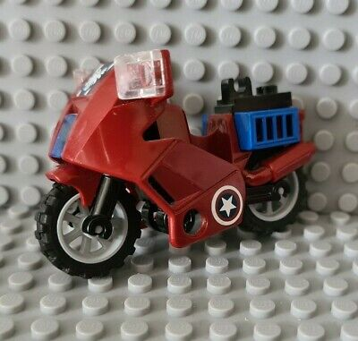 Lego Lego Dark Red Motorcycle From 6865 (52035) Complete • 3.49£