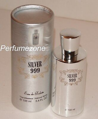 Mens Perfume Silver 999 Beautiful Fragrance From France Made By Saffron • 6£