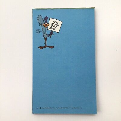 £7.16 • Buy Vintage Looney Tunes Road Runner 3 X5  Notepad - Read At Your Own Risk