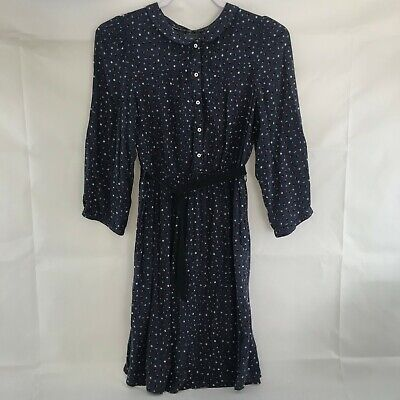 $15 • Buy NWT Zara Blue With Print Long Sleeve Button Up Women's Dress Size L