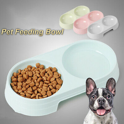 Puppy Feeder Pets Supplies Pet Bowls Water Food Dish Feeding Drinking Double UK • 3.53£