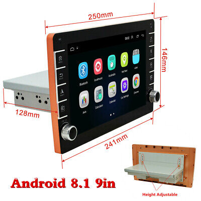 $ CDN180.51 • Buy Adjustable 9in Android 8.1 Single Din Car Stereo Radio GPS Wifi BT DAB OBD 1+16G