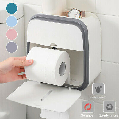 AU31.13 • Buy Toilet Paper Roll Holder Bathroom Tissue Box Dispenser Waterproof Storage Rack