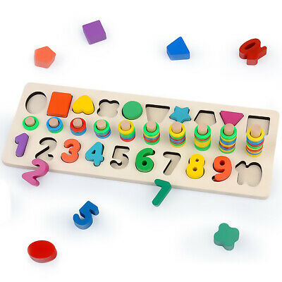 £7.99 • Buy Zotoya Wooden Puzzle Number & Shape Sorter Toy | Educational- Learn To Count
