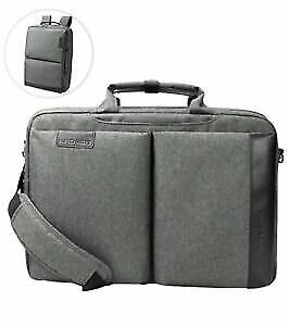 Laptop Briefcase 15.6 Inch Two In One Converts To Backpack, Grey • 17.99£
