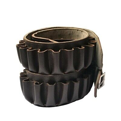 £15.10 • Buy Pure Leather Cartridge Belt In Brown For 20 Cartridges 12 Bore Free Postage