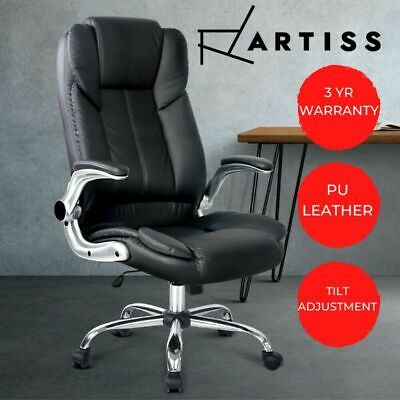 AU196.90 • Buy Artiss Gaming Office Chair Computer Chairs Leather Seat Executive Black