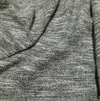 Knit Jersey Fabric And White Melange -sold By The Metre • 5.72£