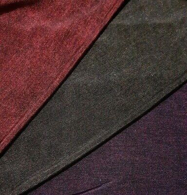 £3.99 • Buy  Knit Jersey Fabric 4 Colours- Melange Thin Stretch- Sold By The Metre