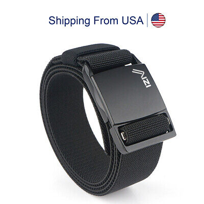 $12.99 • Buy Men Tactical Belt Military Outdoor Nylon Canvas Magnetic Buckle Elastic Stretch