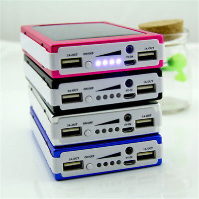 AU11.48 • Buy 300000mAh 20 LED Solar Power Bank Portable Dual USB Battery Charger For Phone S