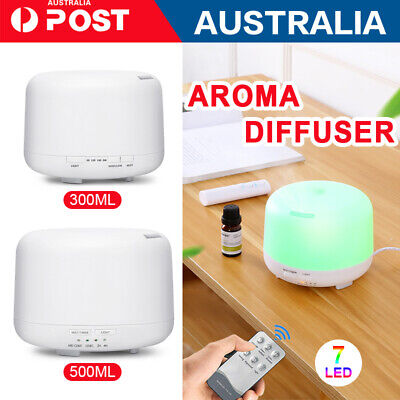AU21.56 • Buy 500ml Essential Air Mist Oil Aroma Diffuser Ultrasonic Humidifier Aromatherapy