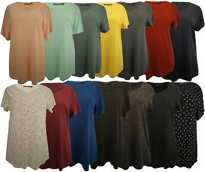 Ex-Store Ladies V-Neck Cotton Rich T-Shirt • 4.99£