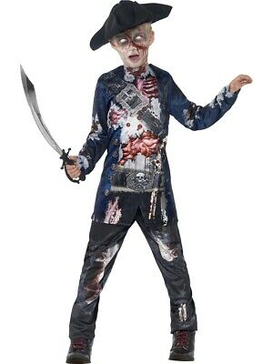 Rotten Pirate Childrens Halloween Horror Fancy Dress Costume Ages 4-14 • 13.99£