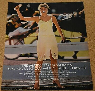 $9.98 • Buy 1983 Print Ad Maidenform Woman Sweet Nothings Camisole Sulky Horse Race Smile
