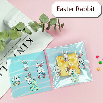 £2.99 • Buy 2021 New Easter Rabbit Cello Cellophane Birthday Party Favor Cookie Gift Bags