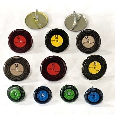 $2.25 • Buy Record Brads  *  Eyelet Outlet *  8 Pcs 33's & 45's  Music, Rock & Roll
