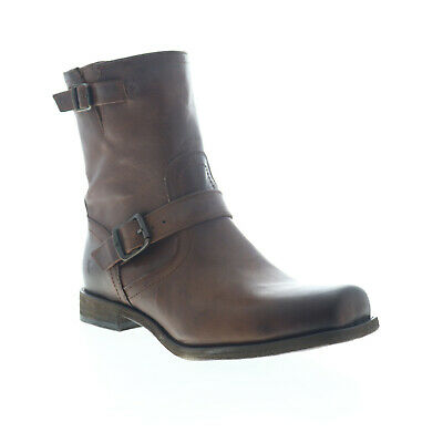$72.99 • Buy Frye Smith Engineer 87077 Mens Brown Leather High Top Zipper Casual Dress Boots
