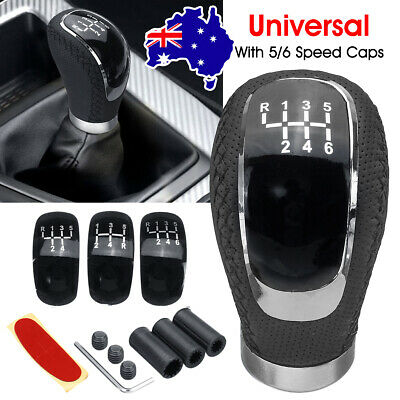 AU20.79 • Buy 5/6 Speed + 3 Caps Car Manual Gear Stick Shift Knob Lever Shifter PU Leather AU