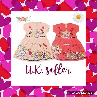 Girls Summer Dress With My Little Pony Characters( Check The Sizing Chart) • 6£