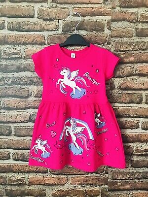 Girls Unicorn Dress( Check The Sizing Chart Comes In Small Sizes) • 6£
