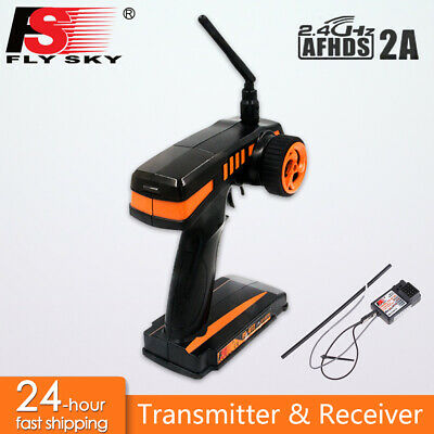 £34.19 • Buy FS GT2 2CH 2.4G Radio Remote Control Transmitter + Receiver For RC Car Boat UK