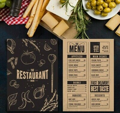 Restaurant/Takeaway Menu Design,Folded Leaflet A4/A3 Half/Tri/Z Fold Design Only • 29.99£