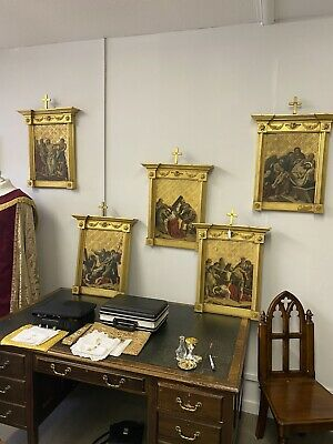 14 Stations Of The Cross Finely Painted 19th Century – Sir Ninian Comper • 45,000£